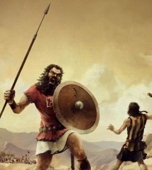 Davi carijó usou a camisa listrada para derrotar o gigante Golias (Imagem: www.101macaco.com)